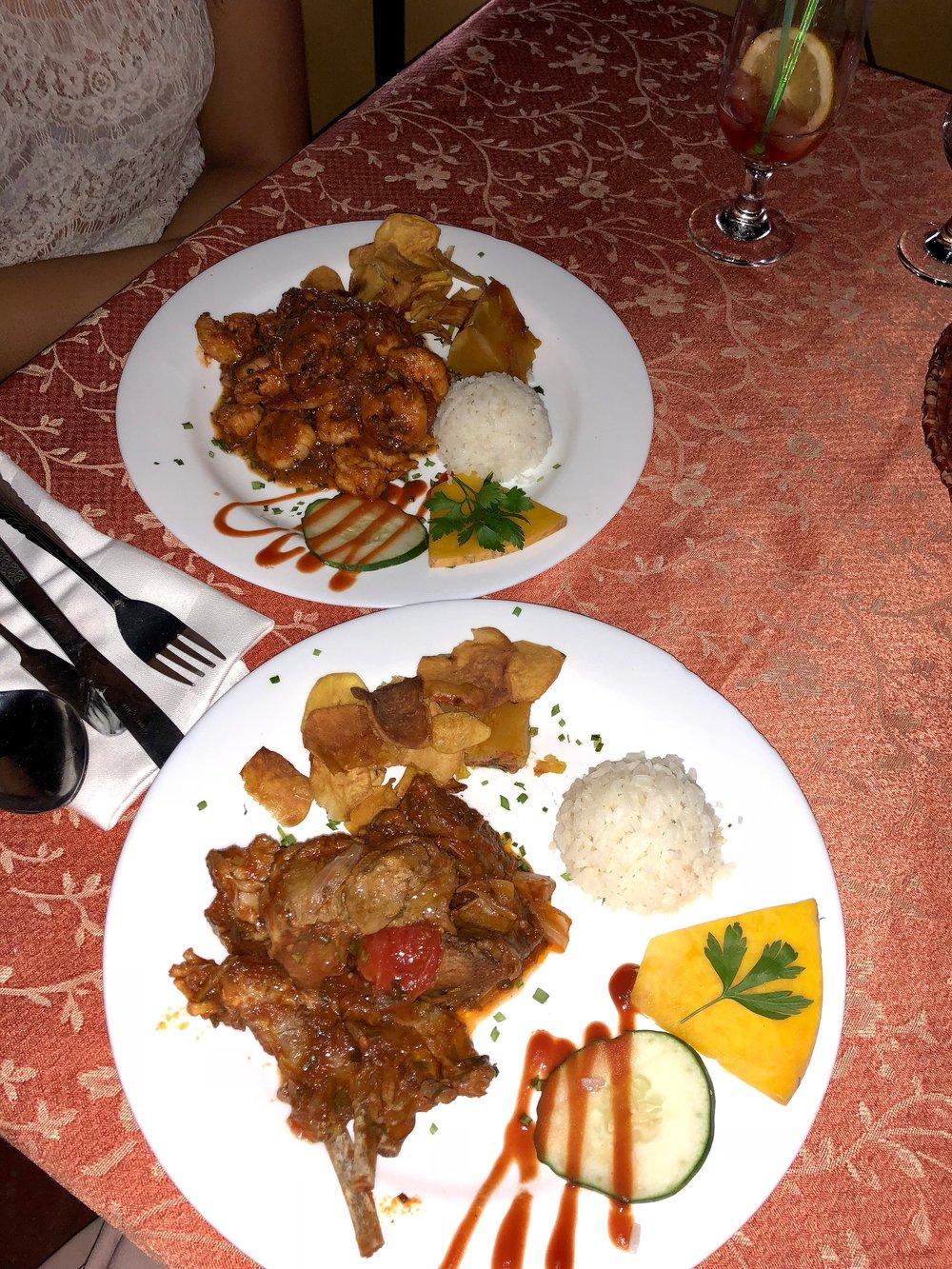 Dinner at Restaurante El Dorado