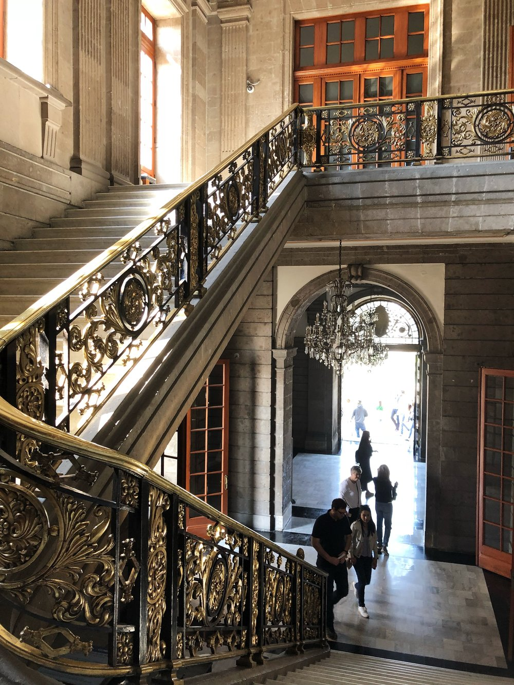 Inside the  Castillo de Chapultepec
