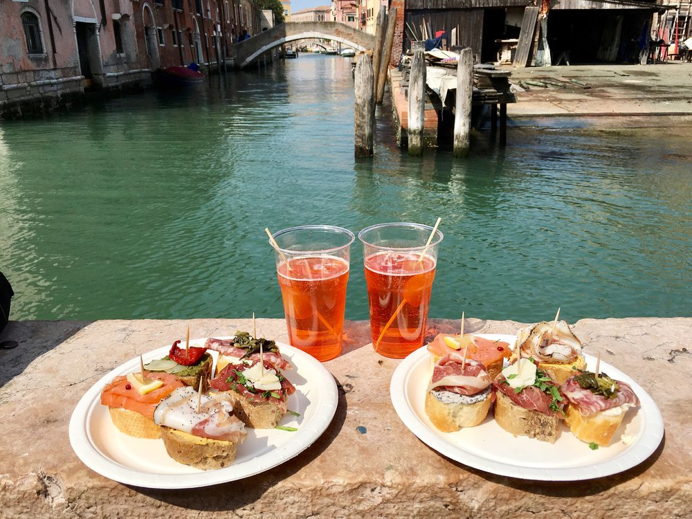 Found out about this incredibly cheap tapas place through a blog post I came across while planning my trip to Italy. [Venice, Italy]