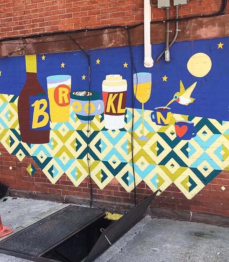 The mural outside Bedford Hill that I am so fond of