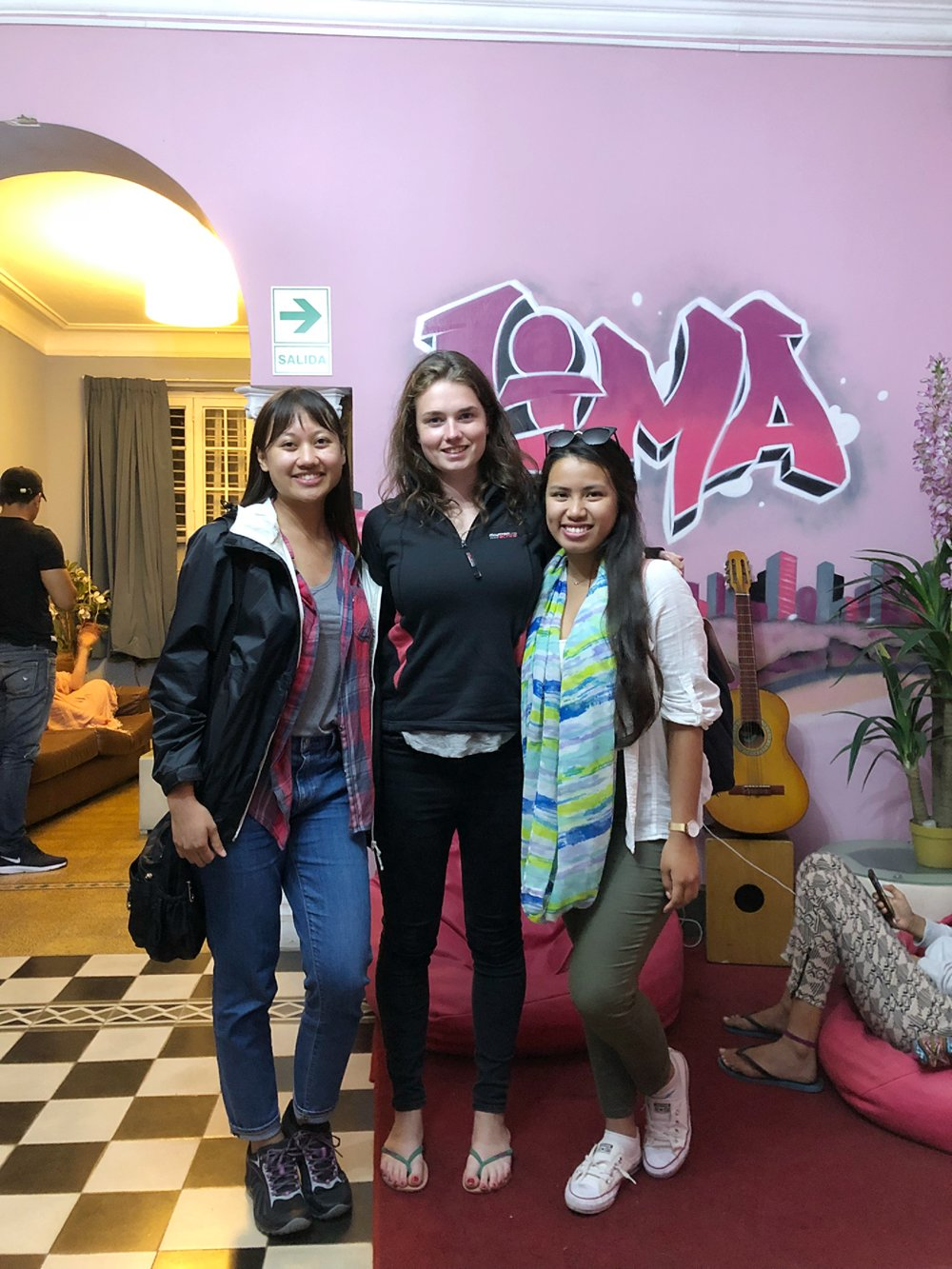 My friend Cat and I with our new friend Megan that we met during our hostel in Lima and hung out with throughout our time there