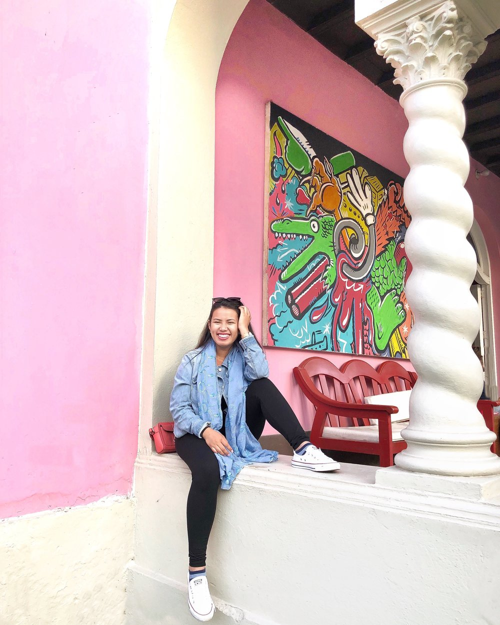 Outside one of my favorite hostels ever in Miraflores (Lima, Peru)