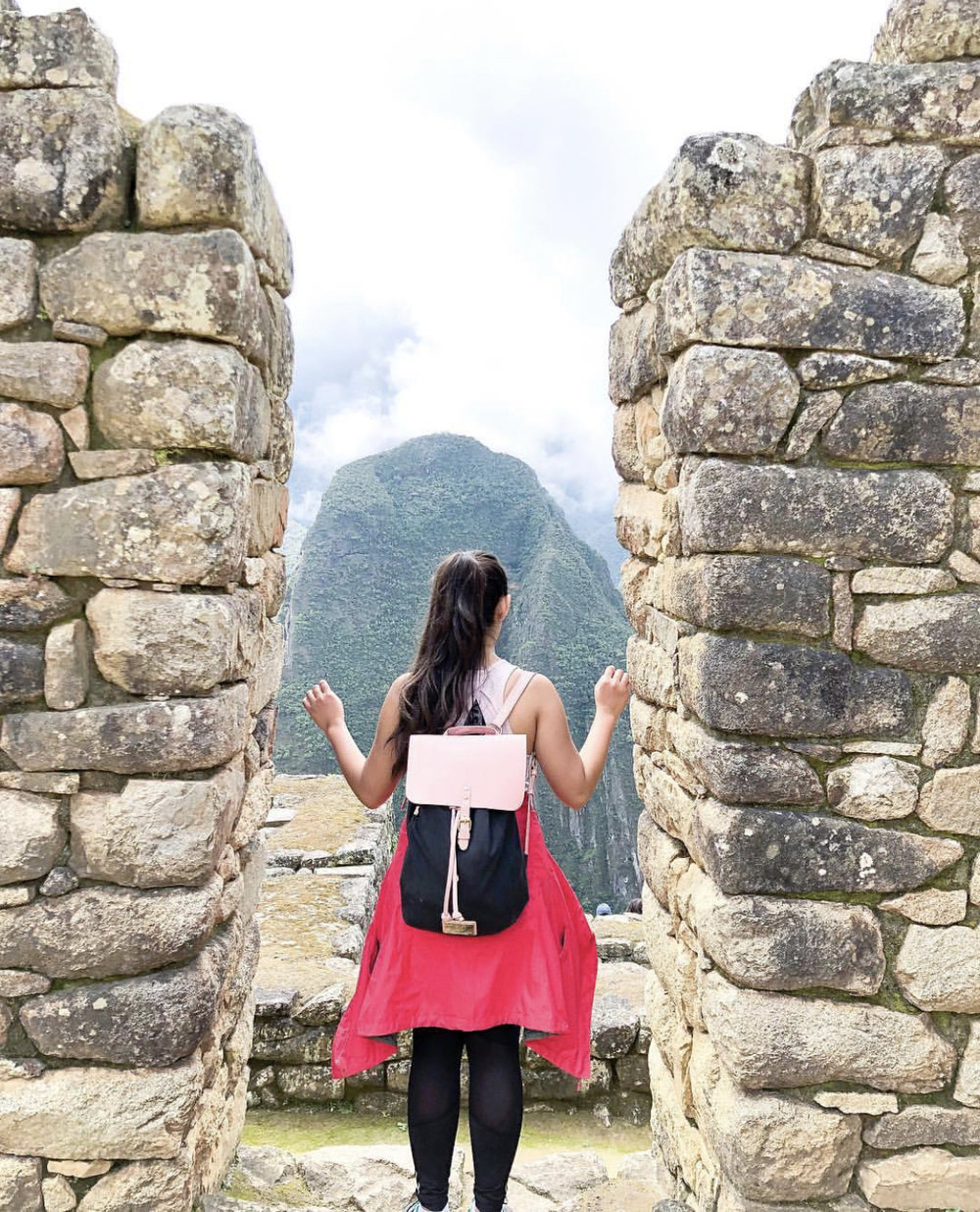 Looking out at Waynapicchu after I had just climbed it!