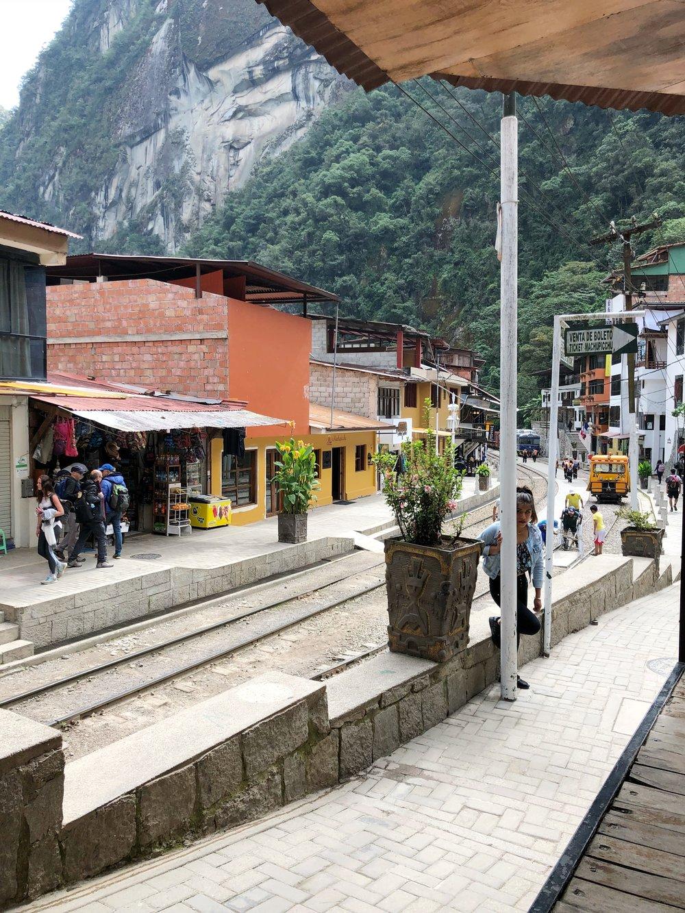 The main train track of Aguascalientes