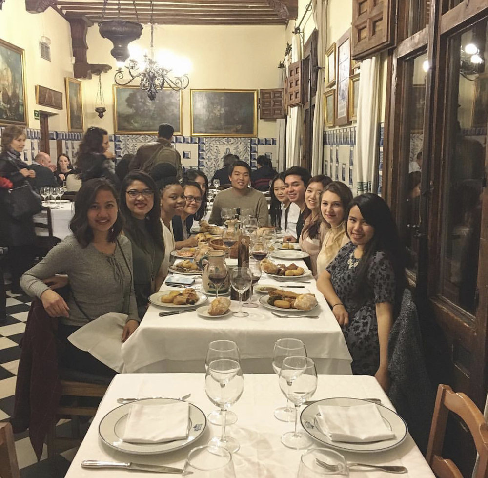 Celebrating Simone's 21st at the oldest restaurant in the world!