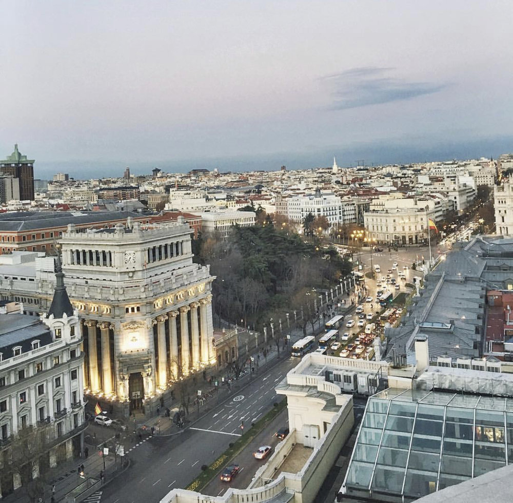 My favorite rooftop view of Madrid (Circulo de Bellas Artes)
