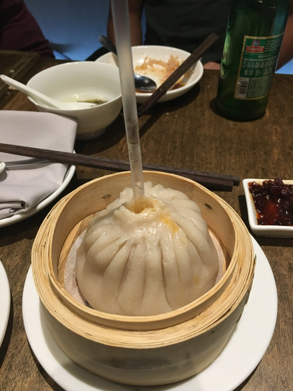 The giant soup dumpling at   Little Alley