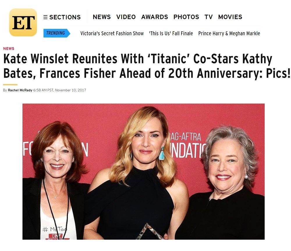 Frances Fisher, SAG-AFTRA, MembershipFirst, ETonline, Kate Winslet, Kathy Bates, Titanic