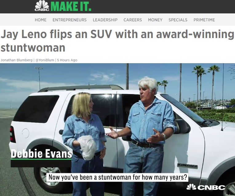 "CNBC:  Debbie Evans and Jay Leno on CNBC's ""Jay Leno's Garage"""