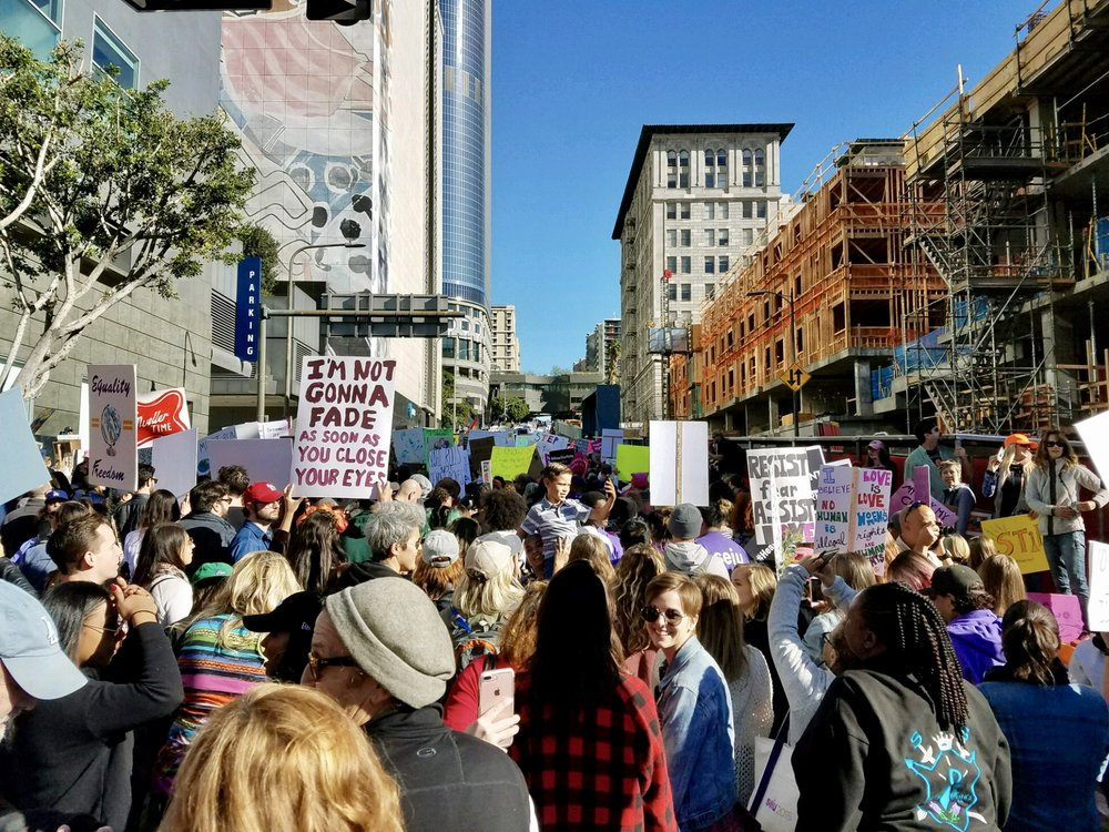 Scenes from The 2018 Women's March Los Angeles, California.