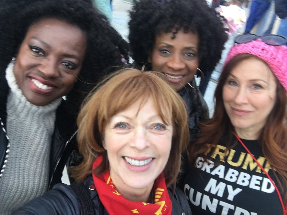Viola Davis, Frances Fisher, Elisa Perry, Lisa Ann Walter say Time's Up at The 2018 Women's March L.A.