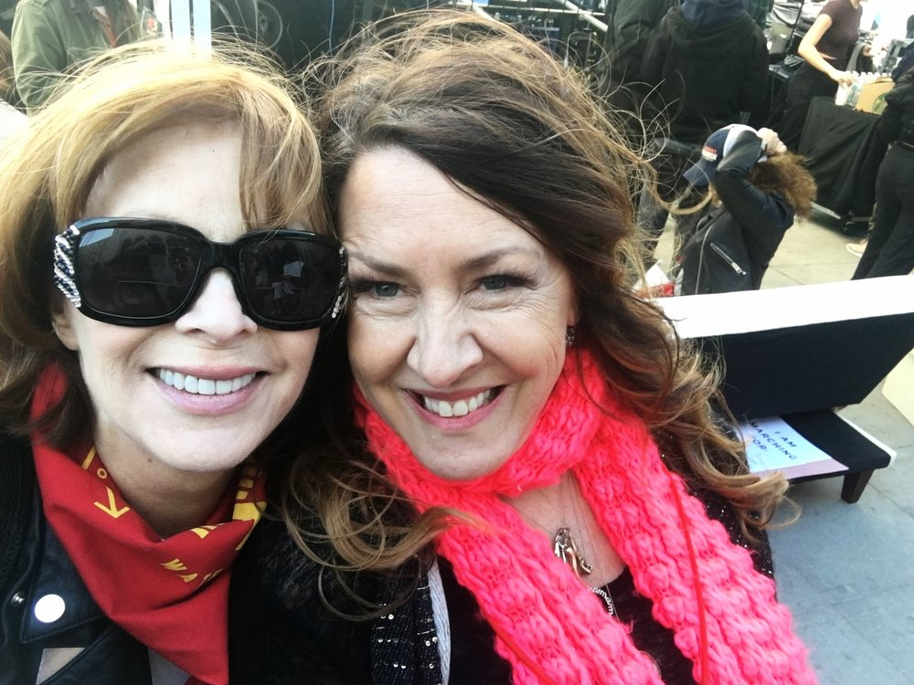 Frances Fisher and Joely Fisher Women's March 2018, Los Angeles, Ca.