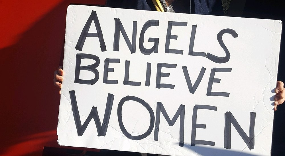 Angels believe in women. Scenes from The 2018 Women's March Los Angeles, California.