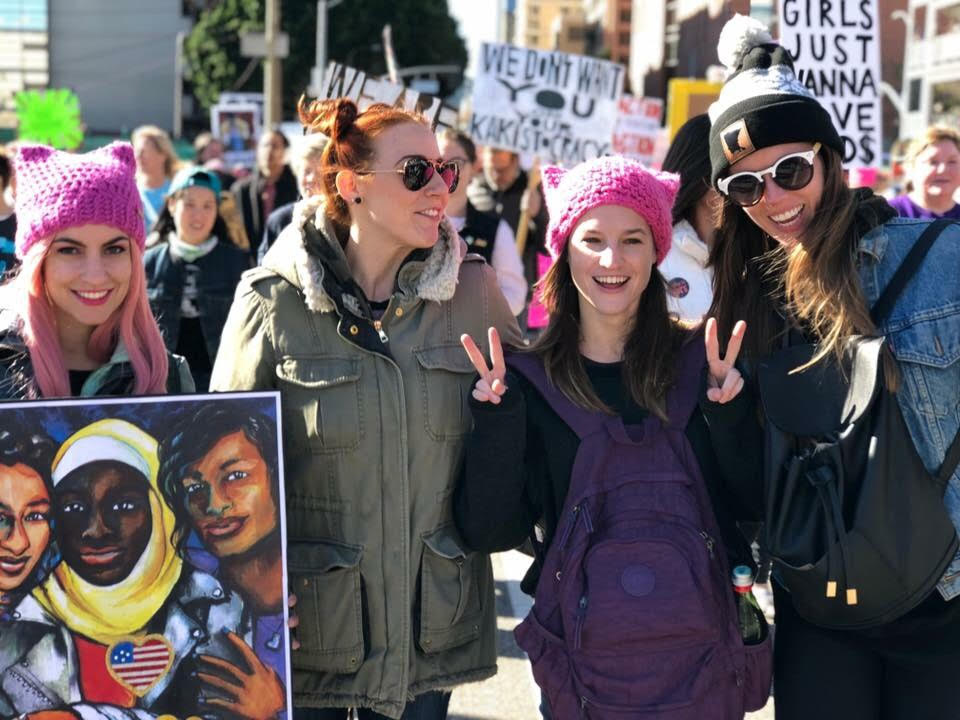 Scenes from The 2018 Women's March Los Angeles