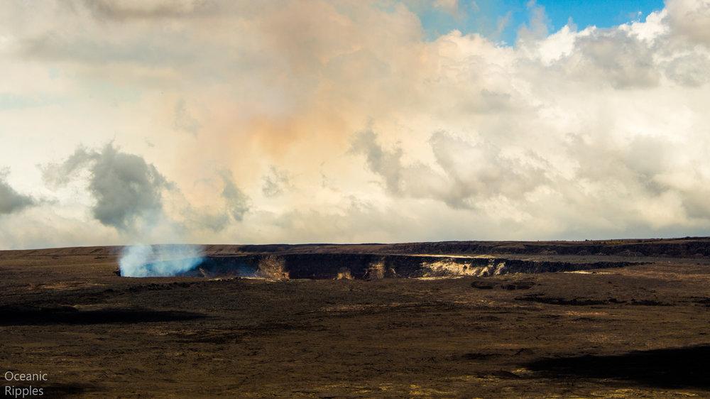 Kilauea volcano's crater