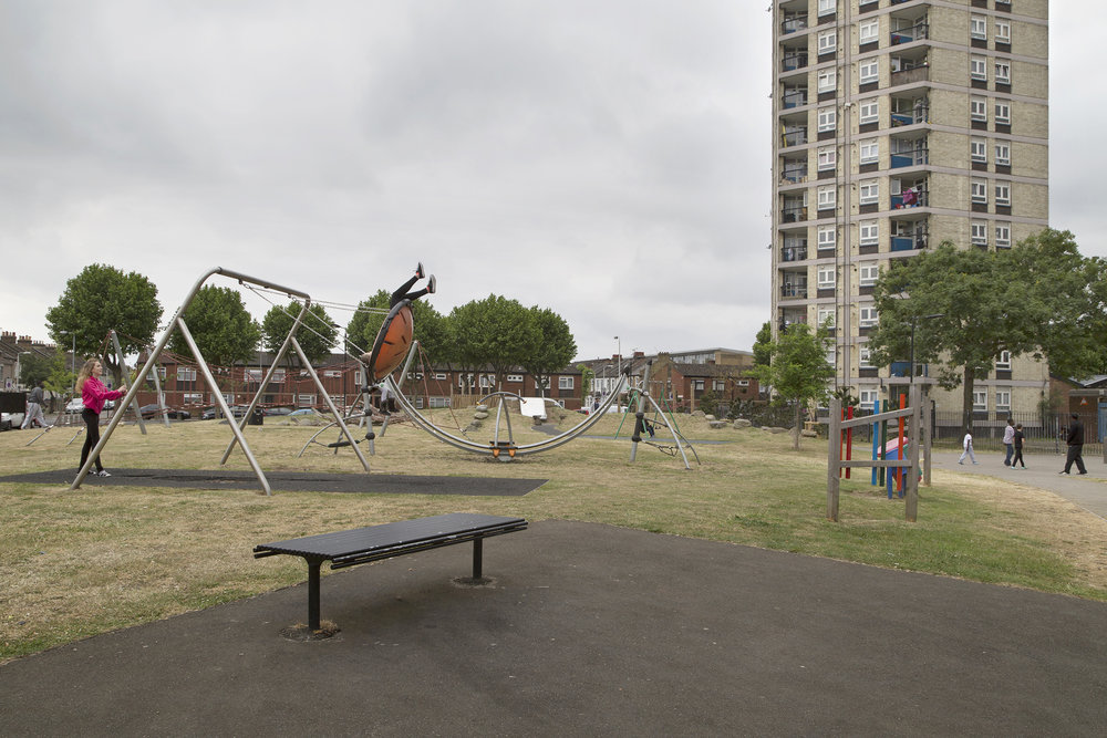 Swings, Newham, London 2015 -