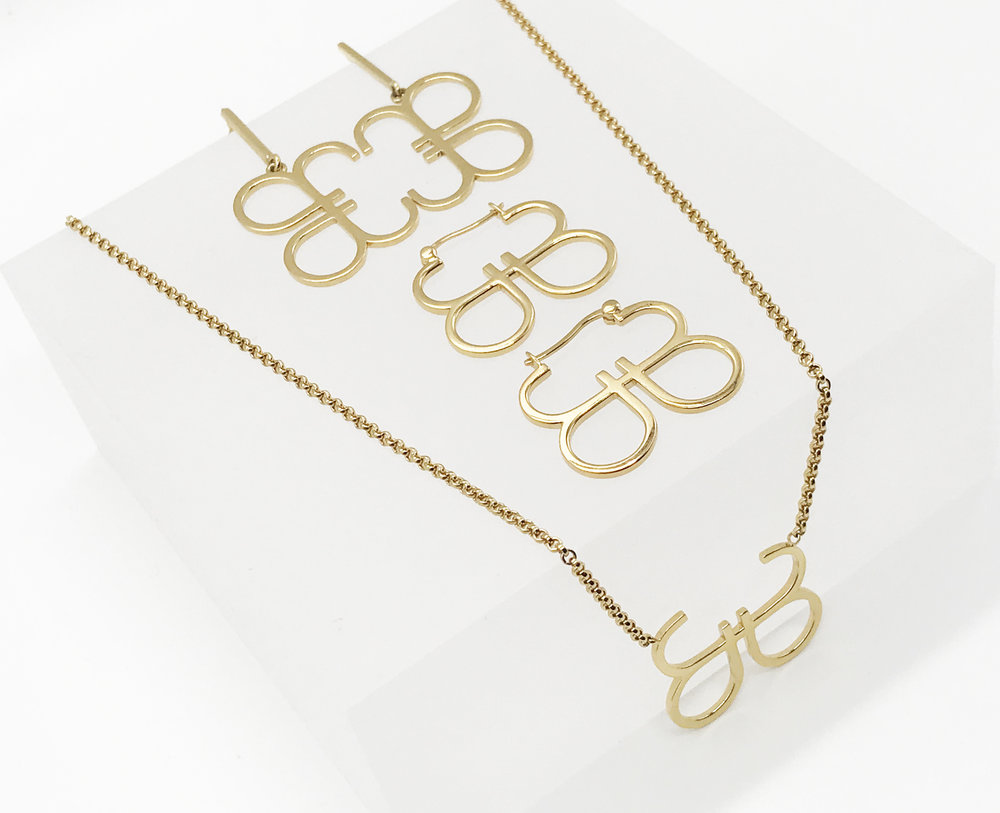B OPEN - The letter B is a symbol of balance and intrigue. It is unfinished and stands in awe, open to new experiences.This signature collection is designed by Becs.SHOP