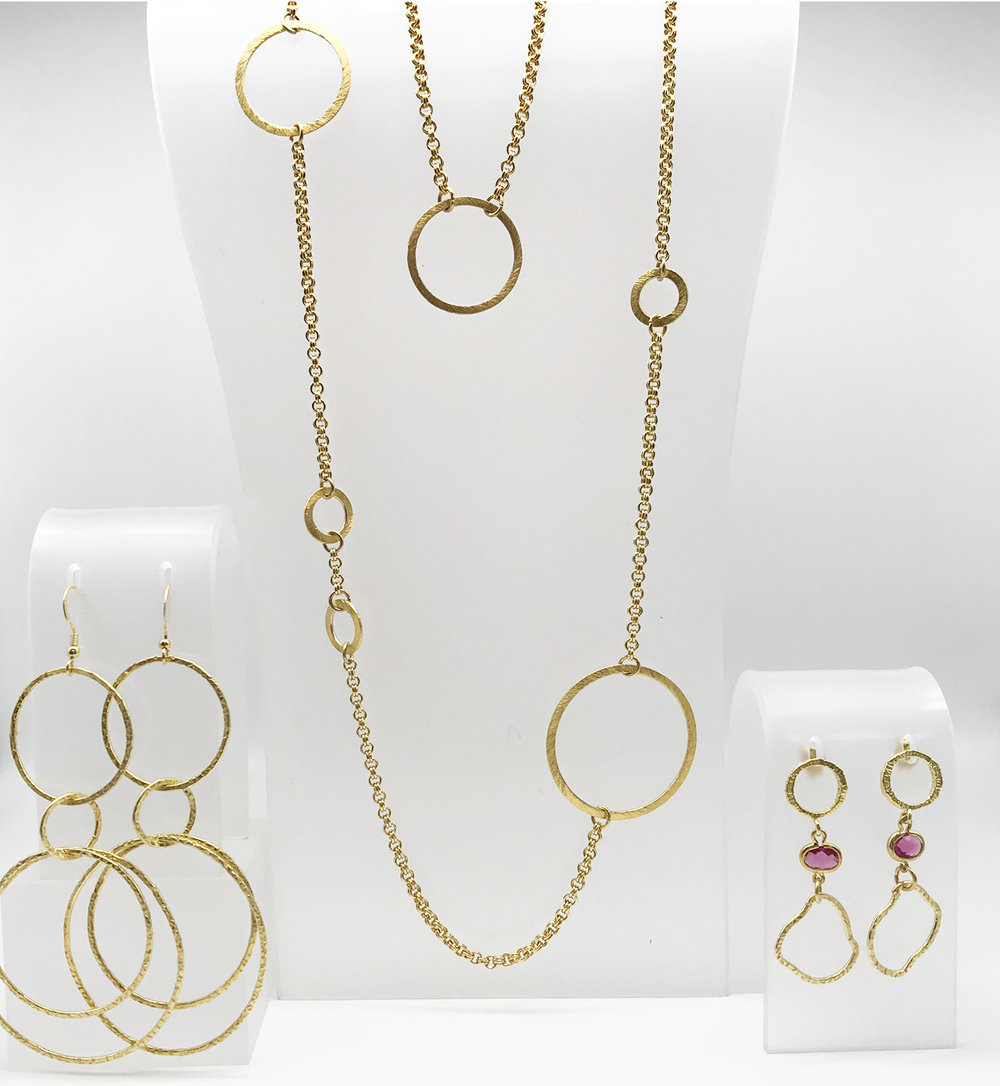 B INFINITE - A circle symbolises infinity and limitless imagination. It transitions from delicate to bold, and staple to showstopper effortlessly. This collection is timeless—how you style it is infinite.Designed by and made by Becs.SHOP