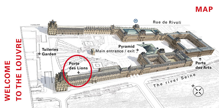 Louvre Map