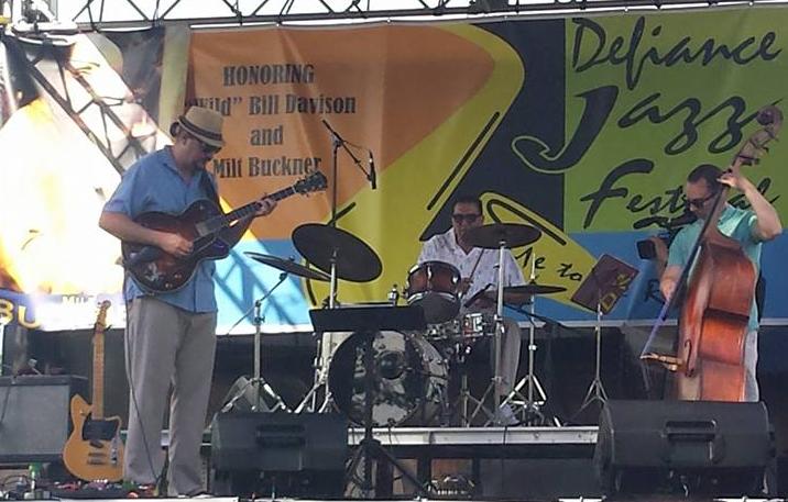 Jason Quick, Zac Kreuz, Josh Bartolomeo onstage at 2017 Defiance Jazz Festival