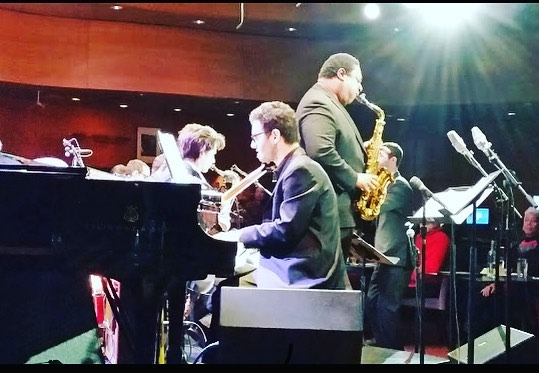 #tbt to this concert a few years back With the @wpunj William Paterson big band and @vincent.herring Vincent Herring at Dizzy's @jazzdotorg . . . .  #NYC  #swing  #music  #musician  #jazzband  #jazztrio  #jazzmusician #jazzcombo  #musicianslife #musiclife  #instagram  #instamusic  #instadaily  #insta #jazzpianist  #watch @msm.nyc #williampaterson #williampatersonbigband