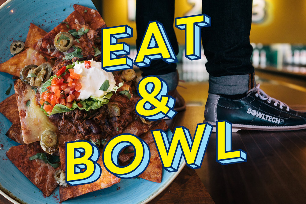 EAT & BOWL    £20pp  / Set menu and a game of bowling.   £25pp  / Set menu and two games of bowling.    Click here   to view our set menu.    Book Now.
