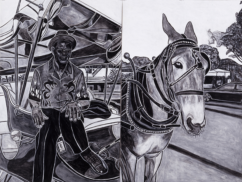 Carriage Driver  with Mule, 2004