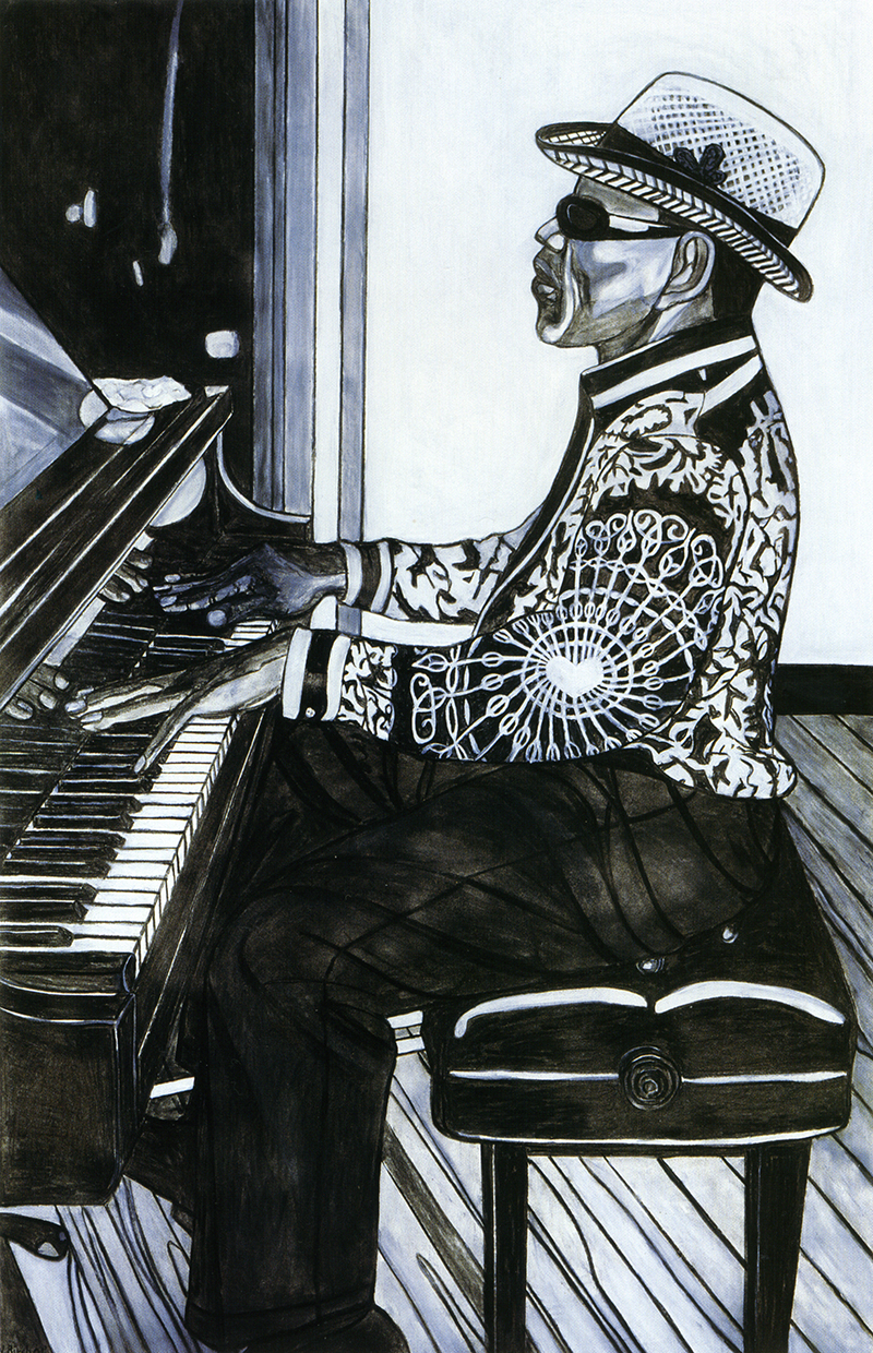 Blind Musician  Playing Piano, 2001