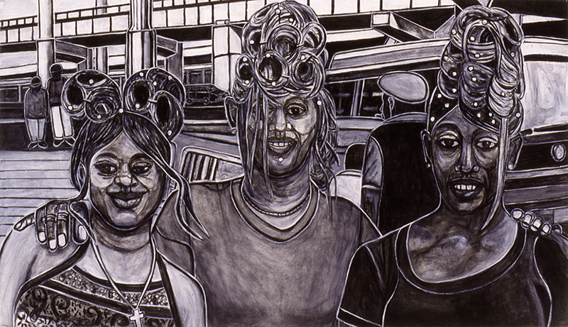 Three Females with Doos, 2000