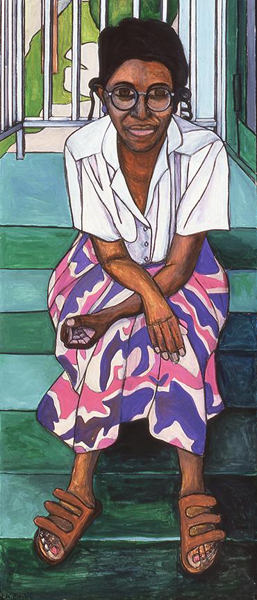 Woman on Stoop, 2000