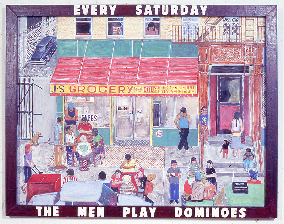 Every Saturday the  Men Play Dominoes, 1987
