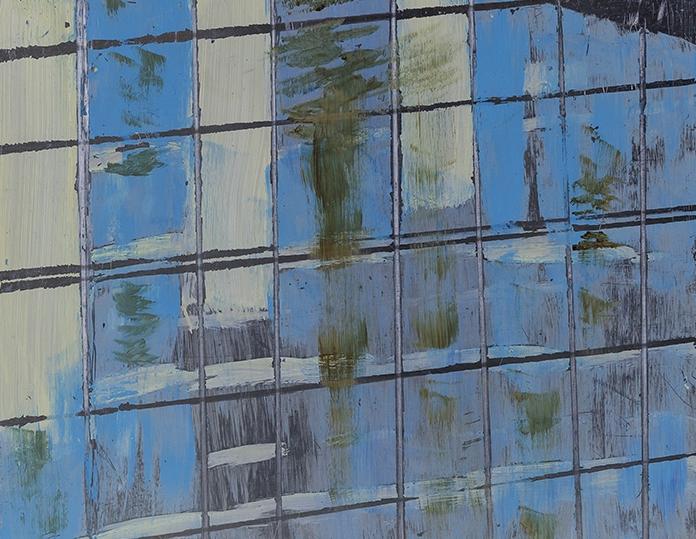 Reflections III, Oil on Aluminium Panel