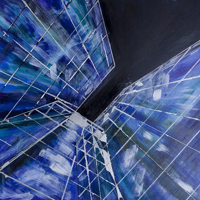 Looking Up I, Acrylics on Aluminium Panel