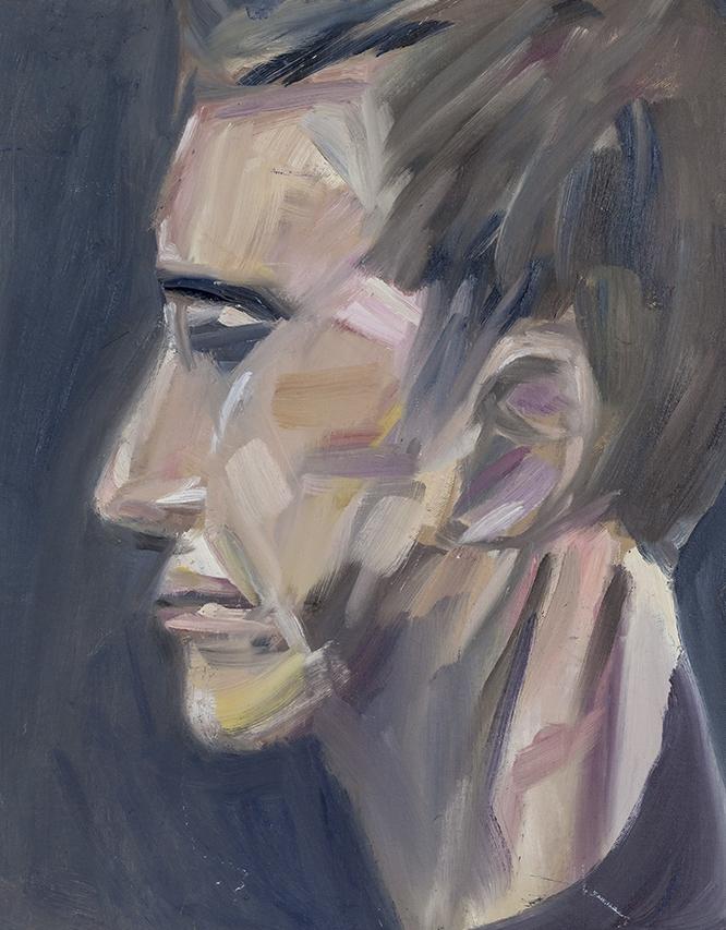 Anxious, Oil on Canvas