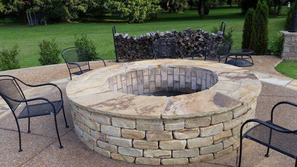 Brick Firepit Stone