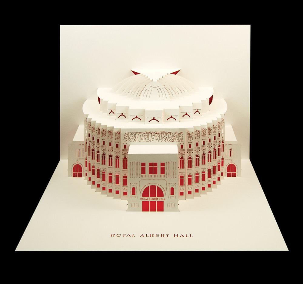 Royal Albert Hall pop-up merchandise card