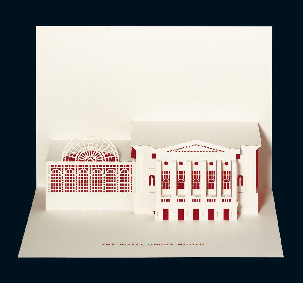 Royal Opera House - Merchandise retail pop-up card