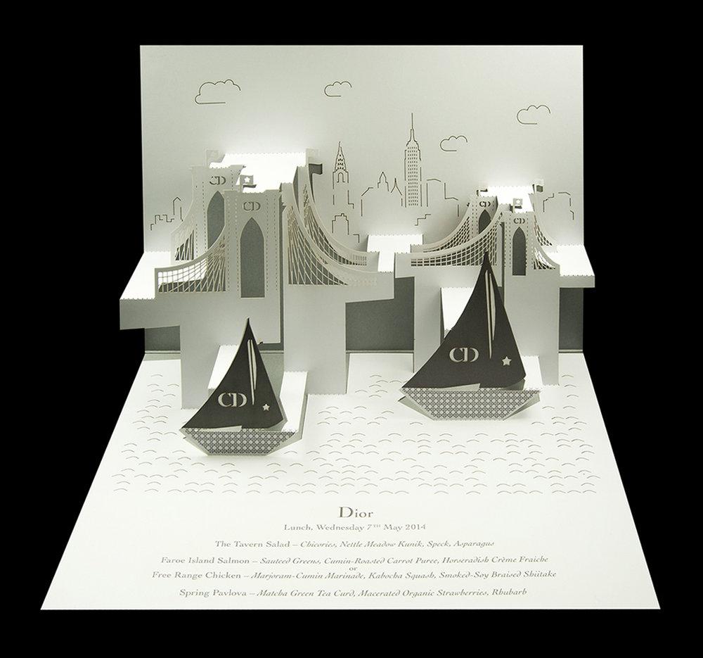 Dior - New York City Cruise Brooklyn Bridge pop-up menu