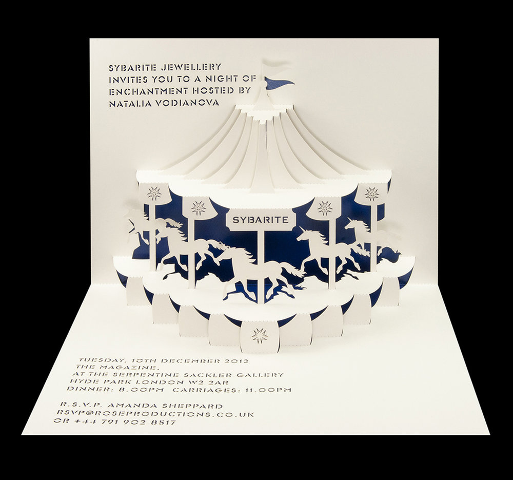 Sybarite Jewellery - Jewellery collection launch pop-up invitation 2013