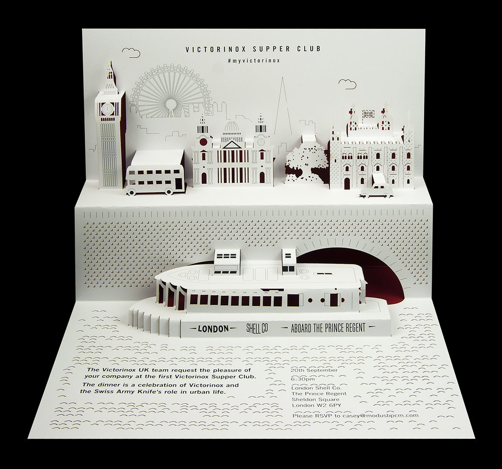 Victorinox - Supper Club pop-up invitation