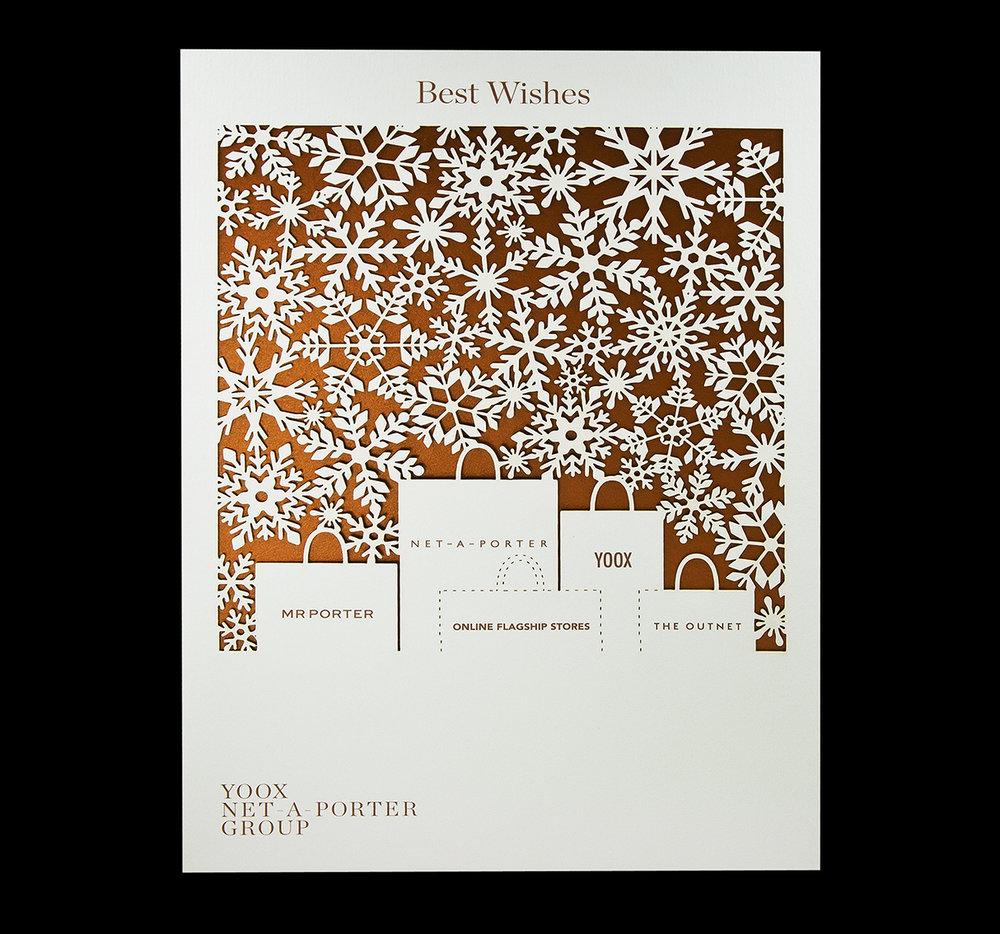 Net-A-Porter - Company Christmas laser-cut card