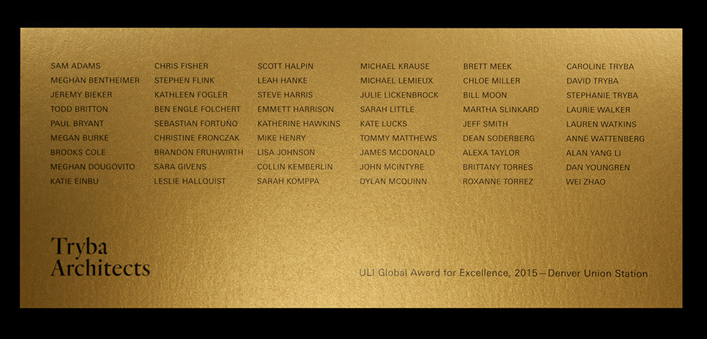 Digital print black onto pearlescent gold card.