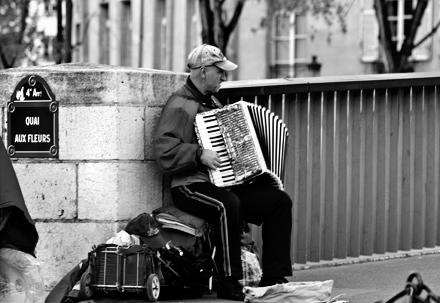 Man on Bridge - Paris