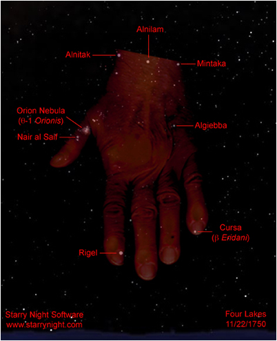 Orion; photo credit; www. starry night.com