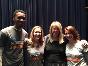 {David, me, Dr. Kay Jamison, and Annie after the Q & A following the screening of Touched With Fire}