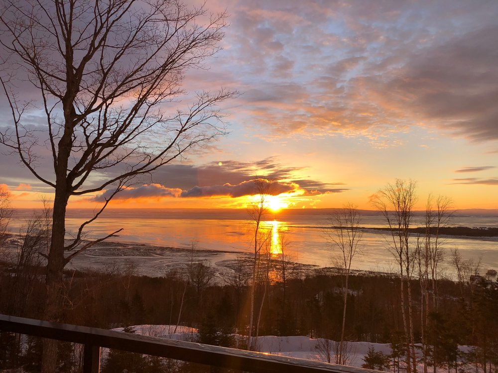 Our view of the Saint Lawrence river from the Airbnb balcony.