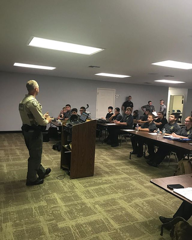 Florida Fish and Wildlife Conservation (FWC) Officer B.Phillippi came out to tonight's Explorer Meeting and explained everything that FWC does. We were excited to have Officer Phillippi at tonight's meeting and we are looking forward to having him and other FWC officers partners with PSO Explorer Post 916. #pascoproud #pascoexplorerpost916