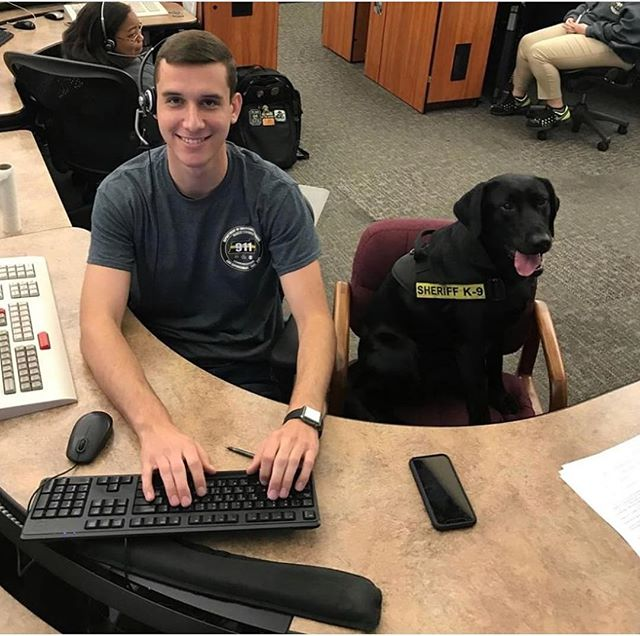 Not only is Chandler an awesome Explorer!!! He is a great dispatcher for P.S.O!! Chandler puts in long hours as a dispatcher and always finds time to for the Explorer program and he is pals with K-9 Dobies!! #thankfulforchandler #k9dobies #pascoproud #pascoexplorerpost916  @pascosheriffsoffice
