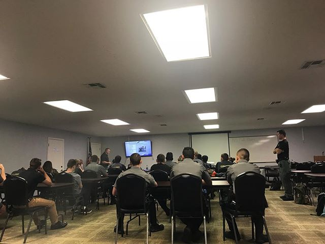 Explorer Advisors are going over this month's training topic !! Close Quarters Combat and In Progress #pascoexplorerpost916 #pascoproud #post916 #PSO