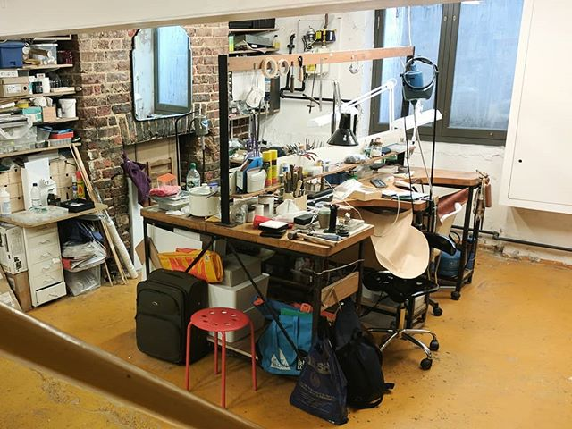 Waving bye 👋 to this place and its lovely people. Another exciting project is coming up very soon! #studio #workshop #jewellerymaker #organisedchaos